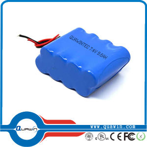 7.4V 9600mAh Li-ion 18650 Battery Pack pictures & photos