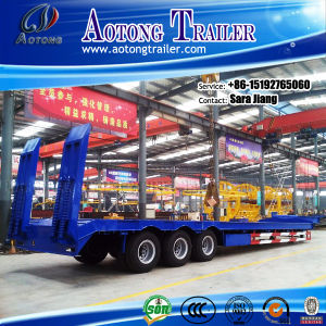 70tons Heavy Excavator Transportation Low Flatbed Trailer for Sale pictures & photos