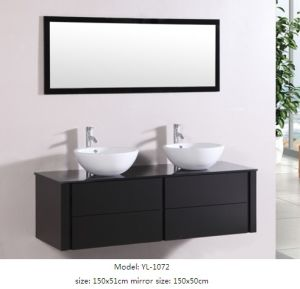 Sanitary Ware White Bathroom Cabinet with Mirror pictures & photos