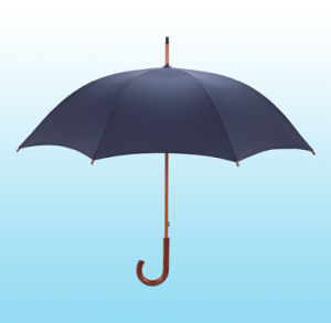 Auto Open Wooden Shaft Straight Umbrella (BD-14) pictures & photos