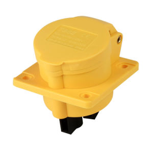 (3031602) IEC309 Outdoor Waterproof IP44 2/3/4/5 Phase Electrical Power Mennekes Type Straight Flanged Industrial Sockets Outlets pictures & photos