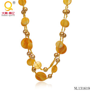 Cheap Jewelry Yellow Necklace Designs pictures & photos