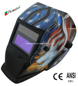 Designed with Flame/GOST/ Eagle AAA Battery Welding Helmet (B1190TB) pictures & photos