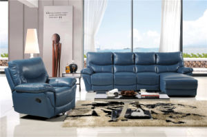 Living Room Sofa with Modern Genuine Leather Sofa Set (451) pictures & photos