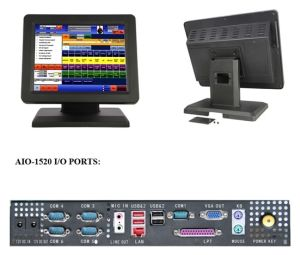 "Restaurant POS Terminal with 15"" All-in-One Touch Customer Display pictures & photos"