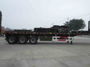 3 Axle Flatbed Container Semi Trailer pictures & photos