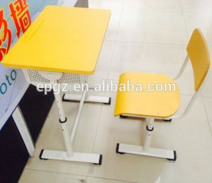 New Design Adjustable Height Single Desk and Chair pictures & photos