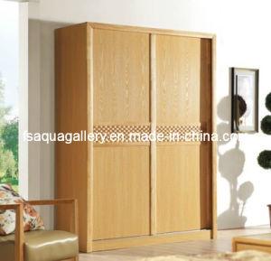 Modern Wood Wardrobe with Sliding Door