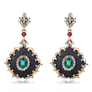 Fashion Antique Gold Plated Noble Court Wind Alloy Earrings pictures & photos