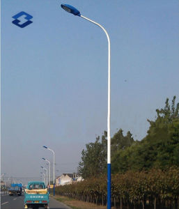 Round Street LED Lighting Steel Column Pole pictures & photos