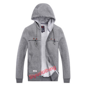 Mens 100%Cotton Hoody Fashion Casual Jacket Sweater (J-1622) pictures & photos