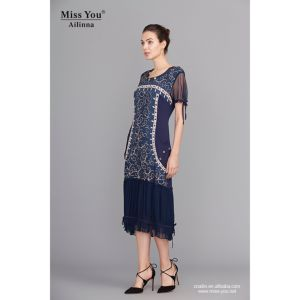 Miss You Ailinna 101299 Favourable Price Light Net Cloth Dress Long Dress Wholesaler pictures & photos