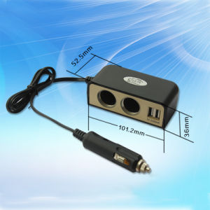 The Best Quality Car Cigarette Lighter Power Socket with Dual USB 5V 3.1A pictures & photos