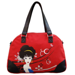 Casual Canvas Lady Bags with Cute Printing Pattern pictures & photos
