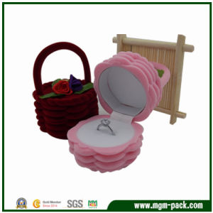 Exqusite Pretty Flower Basket Plastic Jewelry Box pictures & photos