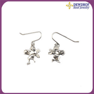 Little Angle Lucky Design Stainless Steel Vintage Earrings