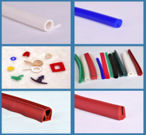 Customized Silicone Rubber Extrusion Strips pictures & photos