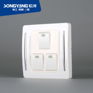 New Electric Switch White Series 3gang Wall Switch