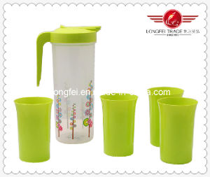 BPA Free Plastic Jug with Cup Set (LFR10754) pictures & photos