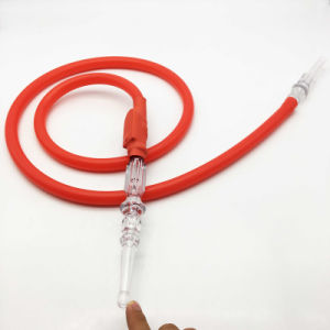 Newest 1.8m Red LED Flashlight Silicone Hookah Shisha Hose (ES-HH-015-2) pictures & photos