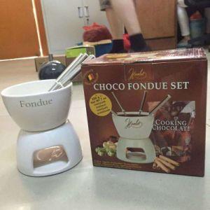 Ceramic White Fondue Set Chocolate Fondue Set pictures & photos