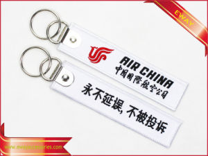 Custom Embroidery Keychain Quality Fabric Promotion Keychain pictures & photos