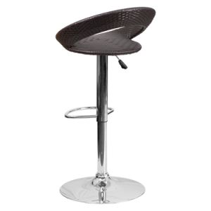Well Furnir Wicker Adjustable-Height Bar Stool with Chrome Base T-069 pictures & photos