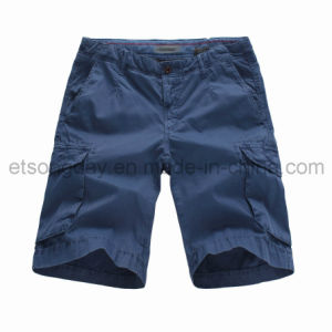 100% Cotton Navy Blue Men′s Shorts with Pocket (R71019CW) pictures & photos