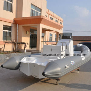 Liya 17ft Cheap PVC Inflatable Rib Boat with Outboard Motor for Sale pictures & photos