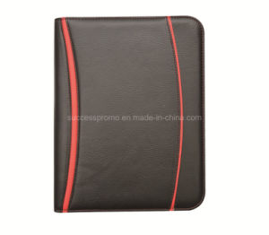 Customized High PU Leather Zipper File Folder Bag pictures & photos