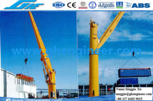 Hydraulic Electric Ship Deck Crane pictures & photos