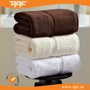 Luxury Cotton Terry Jacquard Bath Towel for Hotel /Home pictures & photos