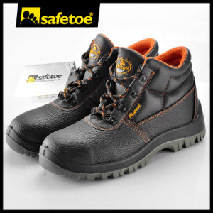 2017 Best Selling Leather Safety Shoes Boots with Steel Toe Cap pictures & photos