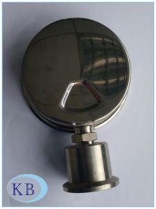 "4"" Filled Sanitary Diaphragm Pressure Gauge, Crimped Case pictures & photos"