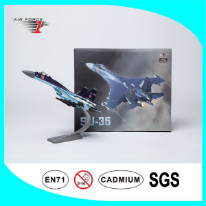 Alloy and ABS Diecast Flight Model Su35 with Purple Color