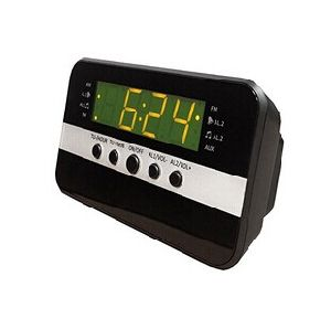 Home Digital Two Way Am/FM LED Alarm Clock Radio