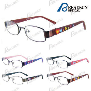 Kids Stainless Steel Eyewear with Rubber Temple and Pattern pictures & photos