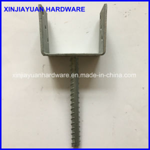Heavy Duty Ground Galvanized U Type Pole Anchor pictures & photos