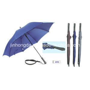 Attached Sling Auto Open Straight Golf Umbrella (YSGO0002)