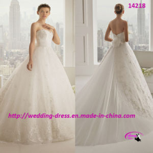 2015 Princess Flowers Lace Wedding Dress Gowns with Sweetheart pictures & photos