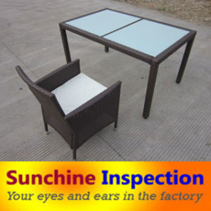Quality Inspection of Glass Dining Table/ Wooden Dining Table Check pictures & photos