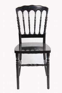 Resin Black Stackable Retal Restaurant Banquet Napoleon Chair pictures & photos