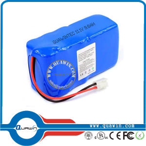 11.1V 3s 9600mAh Li-ion 18650 Rechargeable Battery Pack pictures & photos