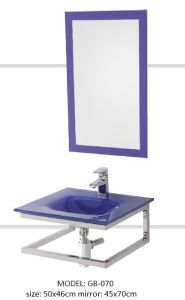 Tempered Glass Basin Sinks with Mirror