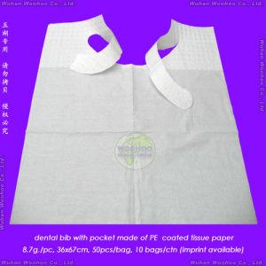 Disposable PE + Tissue Patient Bib pictures & photos