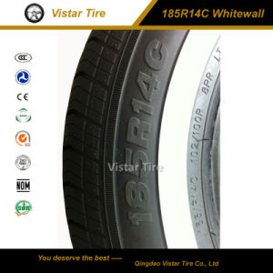 White Sidewall Commercial Car Tire (185R14C, 195R14C, 185R15C, 195R15C) pictures & photos