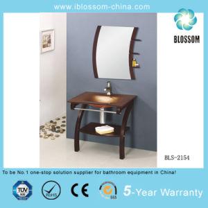 Hangzhou Professional Bathroom Cabinet Glass Vanity Factory (BLS-2154) pictures & photos