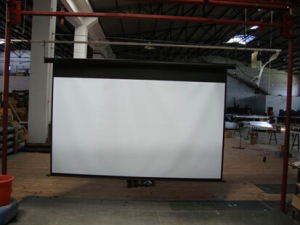 Matt White/Glass Beaded Electric Projection Screen 100 Inch 120 Inch 150 Inch 180 Inch 16: 9