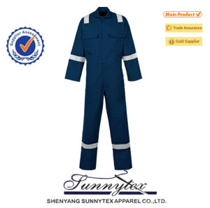 Hi Vis Men′s Reflective Safety Flame Retardant Fire Retardant Coverall Uniform pictures & photos