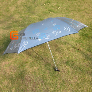 Color Adhesive 4 Folding Umbrella with Printing (YSF4013B) pictures & photos
